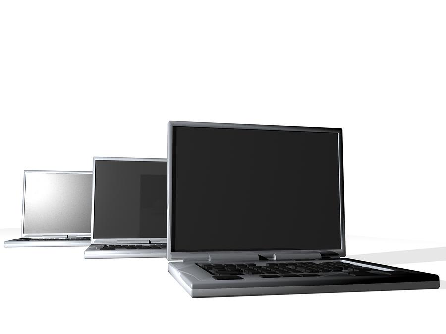 Webbhotell som har allt - Bild på laptops