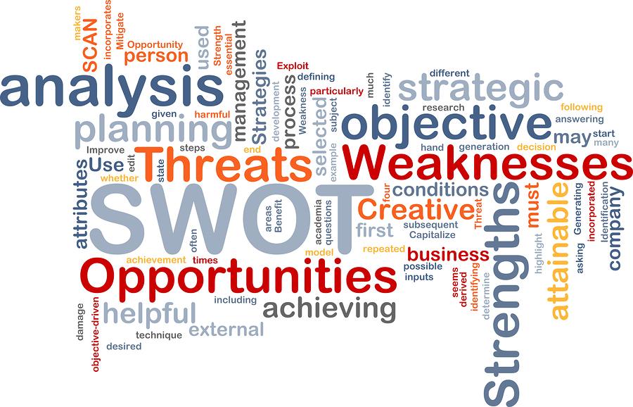 SEO analys - bild på en massa engelska ord