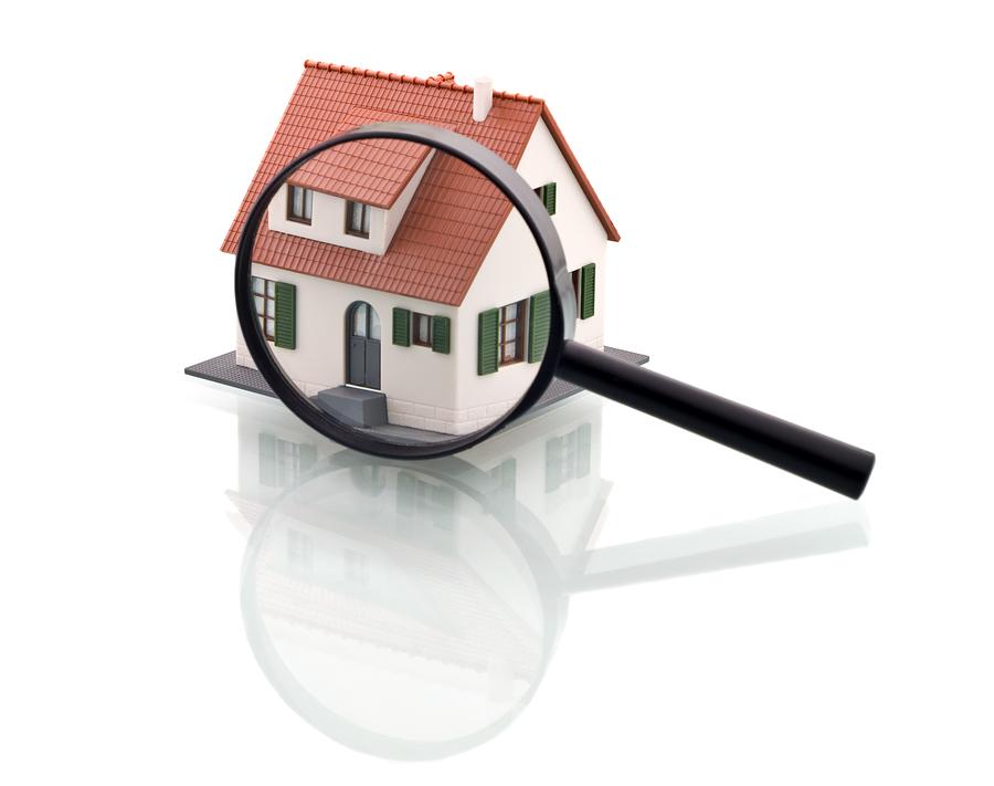 Bild på ett hus - sök och domän handel