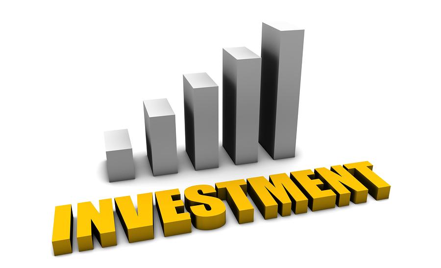 Bild på en graf som visar en posetiv investering