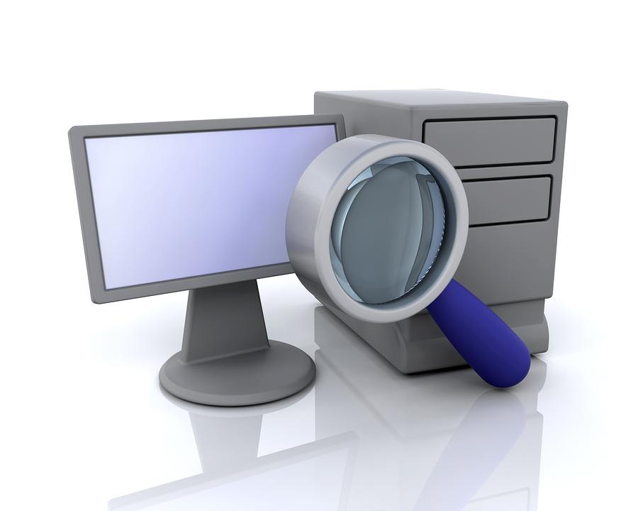 Bild på en dator som visar ett personligt sökresultat