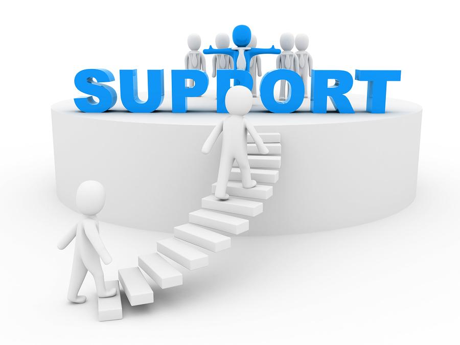 Bild på en animerade personer som söker efter personlig support