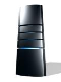 Bild på en svart server i 3D som visar tävling om gratis webbhotell