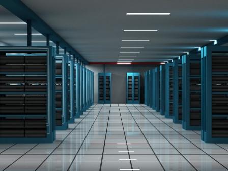 Bild på serverrum som beskriver vårt växande webbhotell