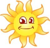 Bild på en glad sol