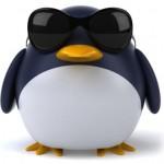 Bild på en pingvin med glasögon