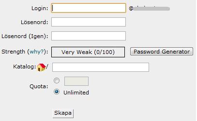 Bild som beskriver hur man lägger till FTP-uppgifter