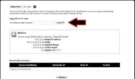 Bild som visar var man skriver in IP-nummret
