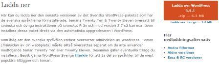 Bild på var man ladda ner WordPress på Svenska
