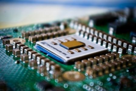 Bild på en CPU