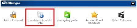 Ikon som visar var man uppdaterar kontakt info