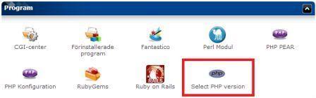 Bild som visar hur ikonen för PHP ser ut