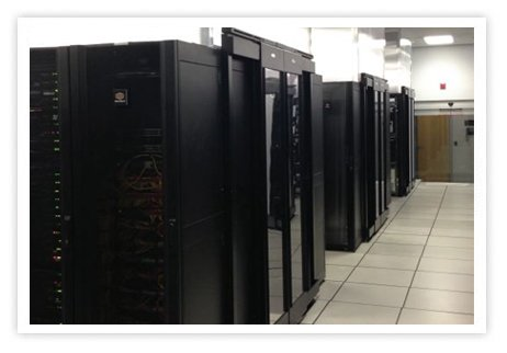 Bild på HostDime´s server miljö