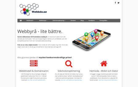 Bild på nya designen av webbdo.se