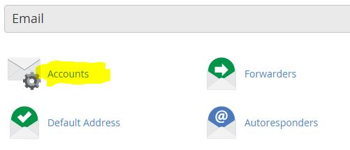 Ikon som visar var man skapar e-ostadress