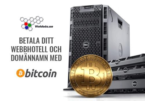 Betala med Bitcoin hos Webbdo