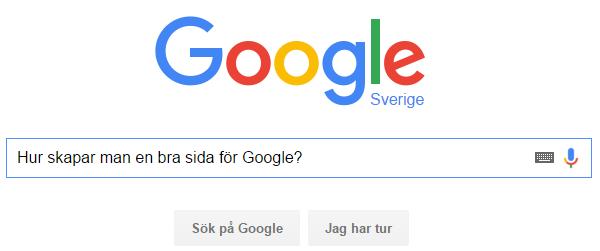 Bild på en sökning i Google.se