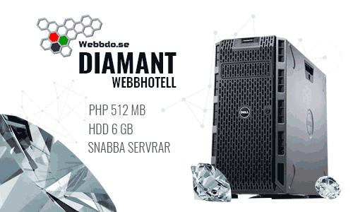 Uppgradering av Webbdo Diamant webbhotell
