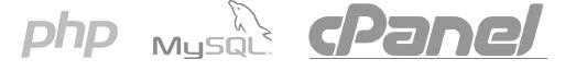 PHP, MySQL och cPanel logo