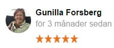 Omdöme från Gunilla Forsberg
